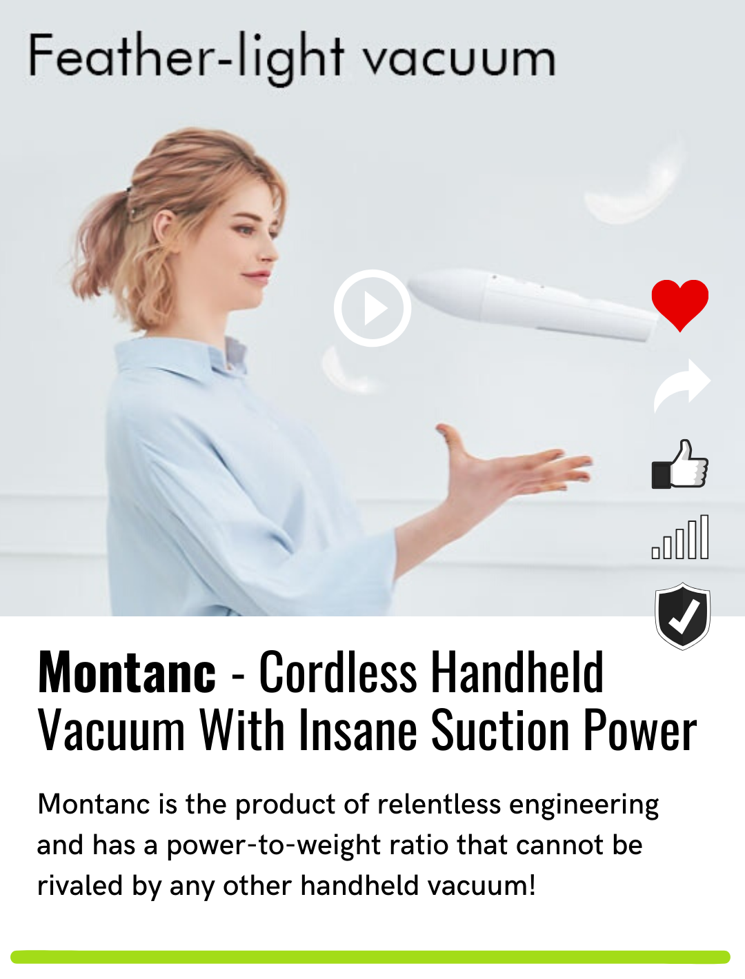 Montanc - Cordless Handheld Vacuum With Insane Suction Power