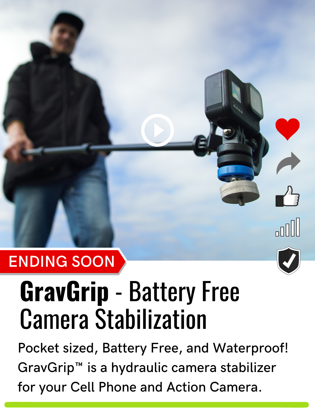 GravGrip | Battery Free Camera Stabilization