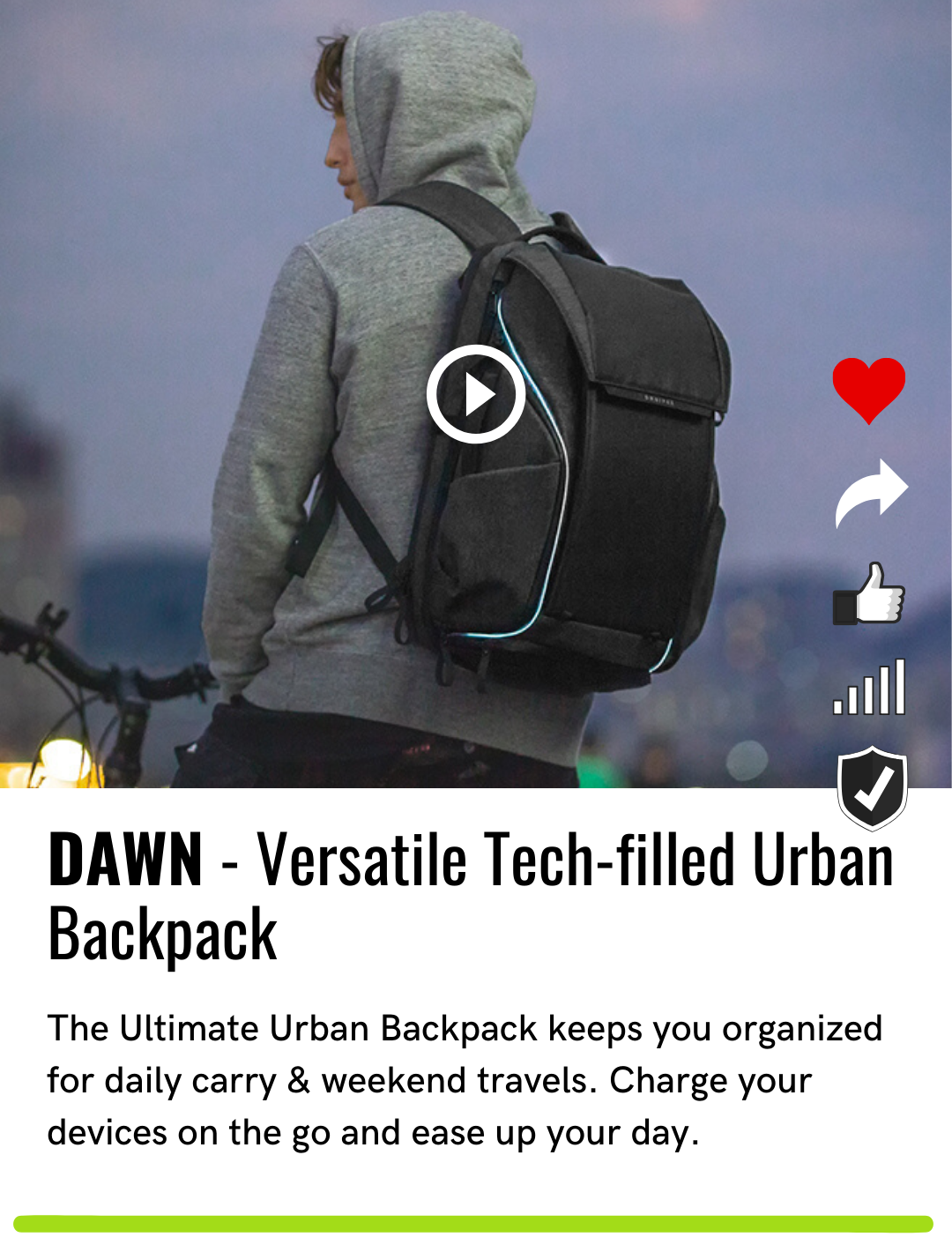 DAWN - Versatile Tech-filled Urban Backpack