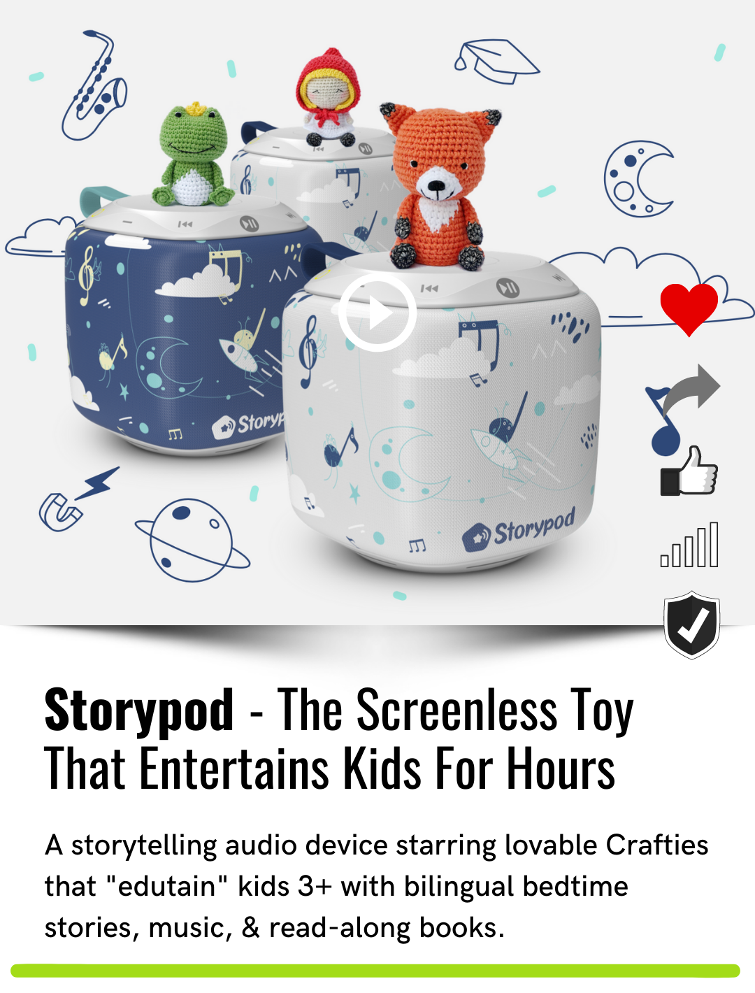 Storypod - The Screenless Toy That Entertains Kids For Hours